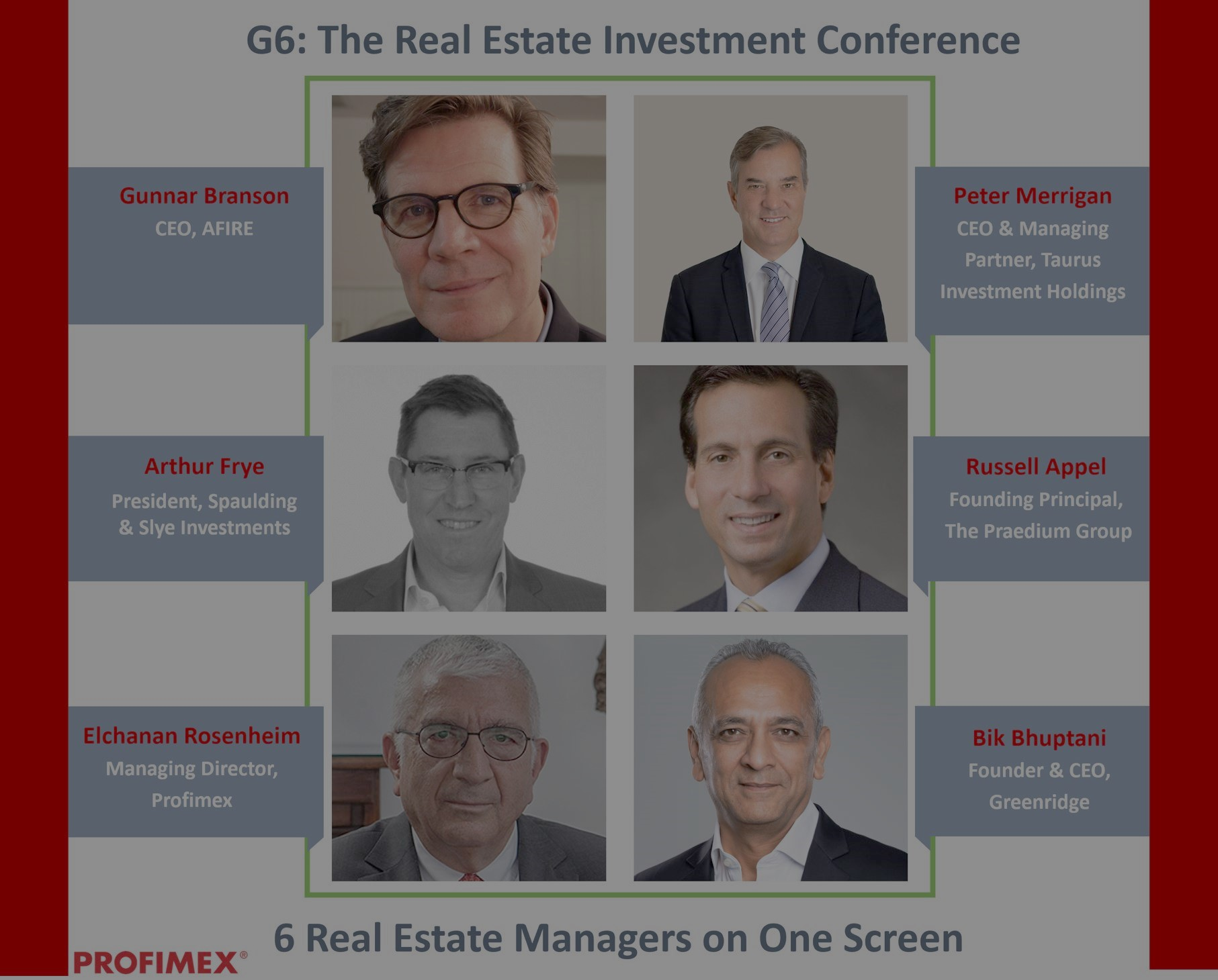 G6 Virtual Real Estate Event